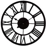 Home Decorators Collection Grayson 17 in. Diameter Round Metal Wall Clock