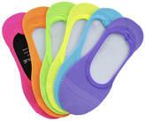 Sof Sole Girls' 6-Pack Fluorescent Footie Socks
