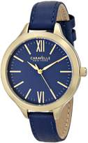 Bulova Caravelle New York Women's 44L153 Stainless Steel Watch with Leather Band