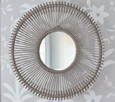 Pottery Barn Kids Gray Rattan Mirror