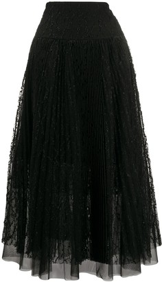 Ermanno Scervino Tule Pleated Skirt