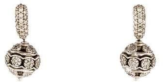 David Yurman Diamond Ball Drop Earrings