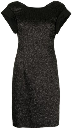 Balenciaga Pre-Owned Crinkled-Finish Fitted Dress