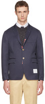 Thom Browne Navy Classic Unconstructed Blazer