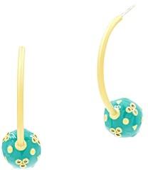 Freida Rothman Harmony Ball Hoop Earrings in 14K Gold-Plated Sterling Silver