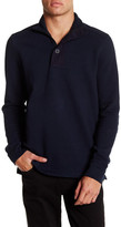 Ben Sherman 1/4 Zip & Button Funnel Neck Sweater