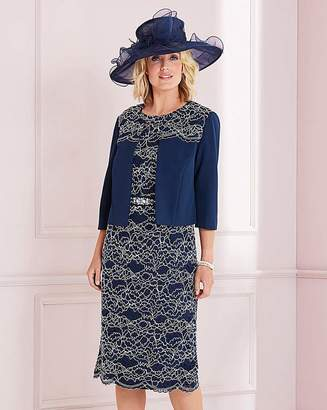 Nightingales Navy Lace Dress And Jacket
