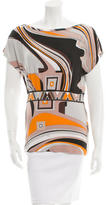 Emilio Pucci Abstract Print Gathered Top
