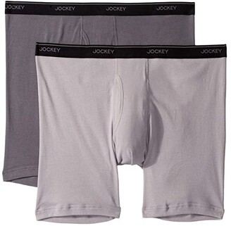 Jockey Staycool Plus Big Man Midway Brief (Lantern Grey/Mid Grey) Men's Underwear