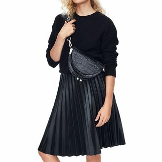Feith&Felly Crocodile Crossbody Bags for Women Ladies Saddle Bag Purses Half Moon Bag with Wide Shoulder Strap