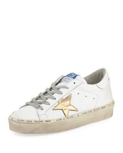 Golden Goose Hi Star Leather Platform Sneaker