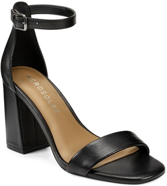 Aerosoles Long Beach Ankle Strap Block Heel Sandal