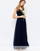 Vila Cinched Waist Maxi Dress