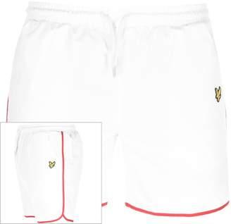 Lyle & Scott Logo Piping Swim Shorts White