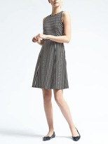 Banana Republic Stripe Fit-and-Flare Dress