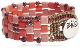 Ziio Pixel Red Beaded Bracelet