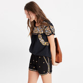 Madewell Embroidered Springtime Pull-On Shorts