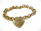 Tiffany & Co. & Co. Return to 18K Yellow Gold Heart Tag Charm Bracelet