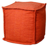 New Pacific Direct, Inc. Dorado Square Pouf, Orange