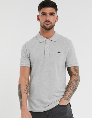 Lacoste slim fit pique polo in gray