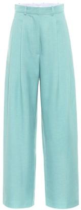 Dodo Bar Or High-rise wide-leg wool-blend pants