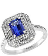Effy Tanzanite Royale Diamond and 14K White Gold Ring