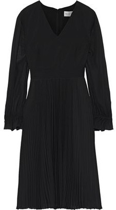 Mikael Aghal Pleated Crepe De Chine Dress