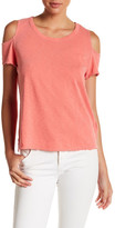 Sundry Cold Shoulder Short Sleeve Tee