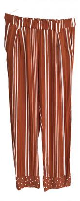 Stine Goya Orange Viscose Trousers