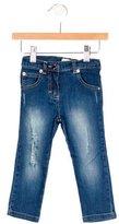 Roberto Cavalli Girls' Distressed Skinny Jeans