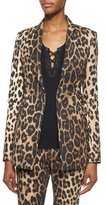 Altuzarra Leopard-Print Side Lace-Up Blazer