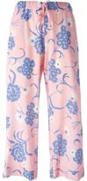 P.A.R.O.S.H. cropped floral print trousers - women - Silk/Spandex/Elastane - XS