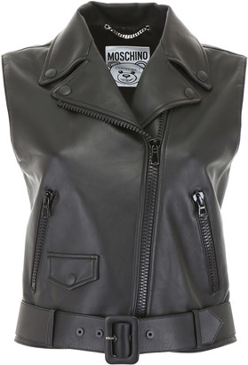 Moschino Leather Vest