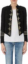 Saint Laurent Women's Military-Inspired Suede Jacket