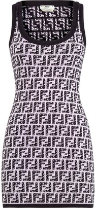 Fendi FF-intarsia dress