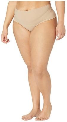 Hanky Panky Plus Size Bare Godiva High-Rise Thong (Biscotti) Women's Swimwear