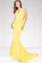 Jovani Ruffle Back Sleeveless Prom Dress 49420