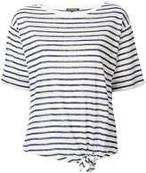 Loro Piana boat neck tie waist T-shirt