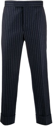 Thom Browne Cropped Pinstripe Trousers