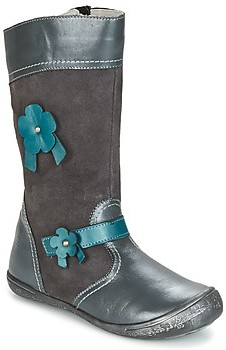 Citrouille et Compagnie RINDAR girls's High Boots in Grey