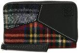 Loewe tartan logo embossed wallet