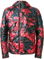 Kru - camouflage hooded puffer jacket - men - Polyester - S