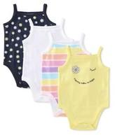 Garanimals Baby Girl Cami Bodysuits, 4pk