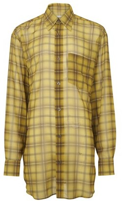 Dries Van Noten Checked long shirt