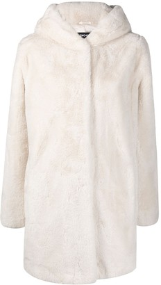 DKNY Faux-Fur Hooded Coat