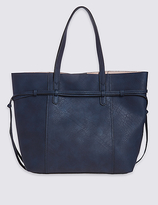 M&S Collection Faux Leather Tie Side Shopper Bag