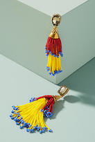 Suzanna Dai Beaded Double Tassel Drop Earrings