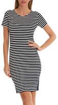 Betty Barclay Striped Jersey Dress, Dark Blue/Cream