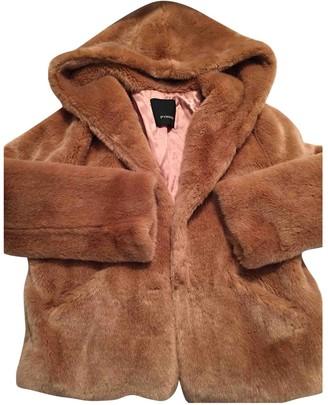 Pinko Orange Faux fur Coat for Women