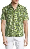 Culturata Lemon-Print Cotton Button-Down Shirt